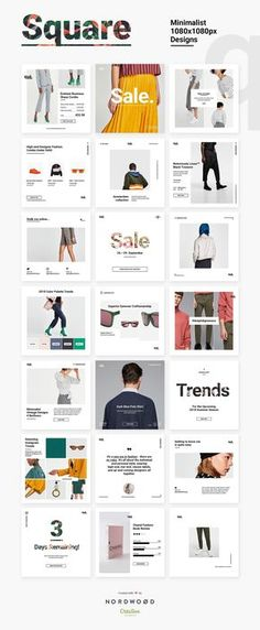 QUE – Fashion & Retail Social Media by NordWood on Creative Market – fashion editorial layout Social Media Branding, Social Media Ad, Social Media Banner, Social Media Template, Social Media Marketing, Retail Branding, Social Campaign, Brand Campaign, Media Campaign