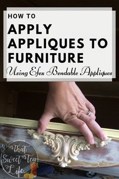 How To Apply Furniture Appliques To Save An Old Dresser Apply Appliqu S To Furniture Use Appliqu S Painted Furniture How To Paint Furniture Painted Furniture Ideas Diy Furniture Renovation, Refurbished Furniture, Paint Furniture, Repurposed Furniture, Furniture Makeover, Vintage Furniture, Cool Furniture, Furniture Ideas, Bedroom Furniture