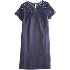 CALYPSO St. Barth Crochet Yoke Dress