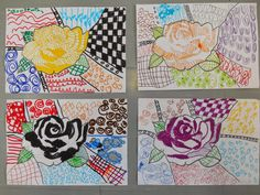 Kindergarten Art Class: ZENTANGLE ART ΣΤΟ ΝΗΠΙΑΓΩΓΕΙΟ