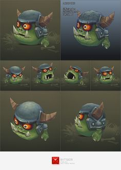 Low Poly Micro Orc Gronk by BITGEM This is Gronk, a low poly micro Orc! He is fully rigged and comes with an idle animation (frame Gronk managed to roll his Character Modeling, Character Creation, Game Character, Character Design, Steampunk Robots, Low Poly Games, 2d Game Art, Game Design, 3d Design