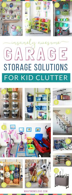 How to organize your garage to eliminate toy clutter   DIY ideas, products, inspiration and tips to create more storage for your kids stuff! Plus hacks and tricks to organize your entire life for a fun summer with your family.