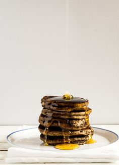Buckwheat Pancakes. Tasty, if I ever have the supplies.