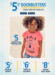 #Oshkosh #Kids #Doorbusters Compra en http://Oshkosh.com  y #TransExpress ¡Te lo trae!