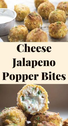 JALAPENO POPPER BITES Jalapeno Popper Bites are just the right size to pack in as much jalapeno popper flavors in each little bite. Loaded with cream cheese, shredded cheese, jalapeno peppers, and bacon, this appetizer really 'pops' (Get it?😀). It's not too spicy, but it has just enough kick to satisfy those spicy food lovers out there.
