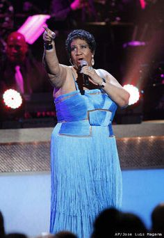 In this Jan. 14, 2012 photo, singer Aretha Franklin performs during the BET Honors at the Warner Theatre in Washington.