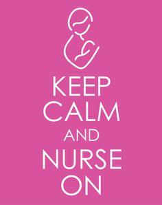 Keep Calm and Nurse On Nursery Graphic Print 8 X 10 by brellababy