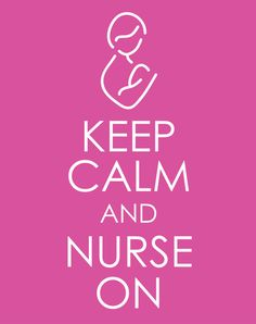Keep Calm and Nurse On Nursery Graphic Print 8 X 10 by brellababy