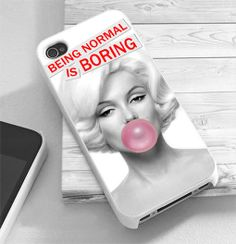 Being Normal Is Boring Quote Marylin Monroe - RiyanTani - Custom Print Hard Case - iPhone 4/4/s/5/5s/5c and Samsung S2 S3 S4