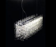 AVMazzego Murano glass pendant light so3126-cristallo