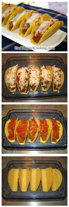 Tasty and easy homemade ground beef tacos recipe! Spicy Recipes, Mexican Food Recipes, Beef Recipes, Cooking Recipes, Mexican Dishes, Finger Food Appetizers, Appetizer Recipes, Sour Foods, Good Food