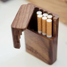 Unique handmade wood products by LogandSplinter Small Wooden Projects, Diy Wood Projects, Wood Crafts, Woodworking Box, Woodworking Projects, Custom Leather Holsters, Handmade Wood Furniture, Birthday Gifts For Boyfriend Diy, Wood Resin Table