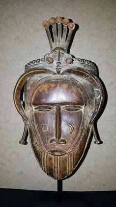 Senufo Bronze Mask, ivory coast