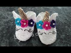 Pantuflas de Unicornio para mamá e Hija  Tejidas a Crochet. Parte 1