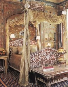 Guest room in Ann Getty's San Francisco home.