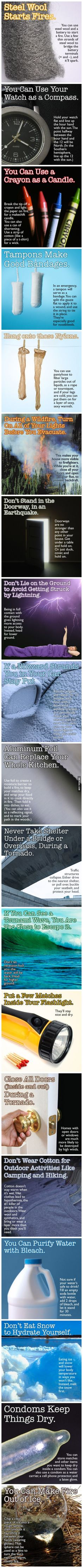 19 tips and tricks that CAN save your life.