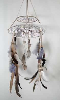 mobile dreamcatcher by MetisArtsJolin on Etsy, $55.00