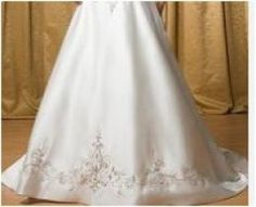 Here you go @Megan Schleicher - you can re-purpose your wedding dress as a Christmas Tree Skirt. :