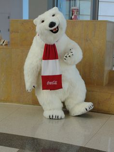 Coke Polar Bear at World of Coke, Atlanta, GA