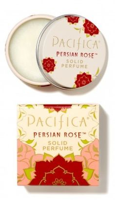 Pacifica Persian Rose Solid Perfume by Pacifica. $9.70. Free of parabens and phthalates and GMOs. Not tested on animals. Classic scent. Made in the USA. Purse size. A modern take on the most ancient form of fragrance, Pacifica's Solid Perfume are made with 100% natural soy and coconut wax and Pacifica's signature perfume blends with natural and essential oils. Perfectly sized tins allow you to carry your favorite scent with you. Classic and elegant in Persian Rose,...