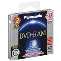 Panasonic Two-Pack of e8cm DVD-RAM Disc with Pro Hard Coating for DVD Camcorders, 2.8GB by Panasonic. $6.99. With the Panasonic 2.8GB (60 Minutes) Double-Sided DVD-RAM Disc for DVD Camcorders you can easily save those special family memories and share them with someone who will treasure them forever. These rewritable, re-recordable discs are ideal for recording and re-recording with DVD-RAM compatible camcorders, ensuring that you get only the best shots possible.