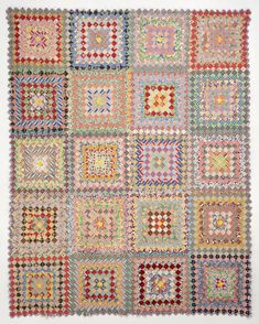 Vintage Postage Stamp quilt at Susan Dague Quilts