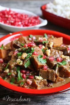 Vegan Fesenjan (Walnut & Pomegranate Stew) | The Macadames