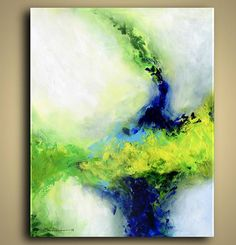 ORIGINAL PAINTING Colorful Abstract by NYoriginalpaintings on Etsy