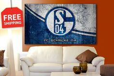 FREE SHIPPING Canvas painting FC Schalke 04 Wall