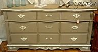 SkyBluPink Creations-Annie Sloan Unfolded-ASCP CoCo & Old White dresser