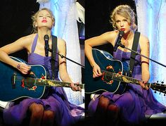 Taylor singing 'Last Kiss' on the Speak Now World Tour.