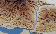 "maptitude1: "" These 3D maps by Sam Caldwell are made of colored paper. """