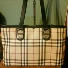 Authentic Burberry Nova Check Tote*Incredible