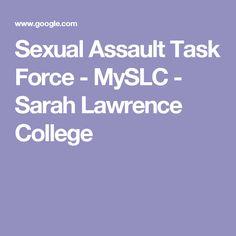Sexual Assault Task Force - MySLC - Sarah Lawrence College