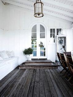 Absolutely in love -rustic wooden closed porch