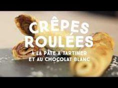 Crêpes roulées à la pâte à tartiner et chocolat blanc - CuisineAZ
