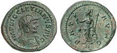 AR/AE Aurelianus. Roman Coin, Roman Empire, Diocletianus 284-305 AD, Lugdunum mint. 293 AD. 4,24g. RIC V/2, 227, 65. Good VF. Starting price 2011: 72 USD. Unsold.
