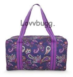 """Paisley Duffle Bag Trunk Suitcase for 18"""" American Girl Widest Selection! #Lovvbugg"""