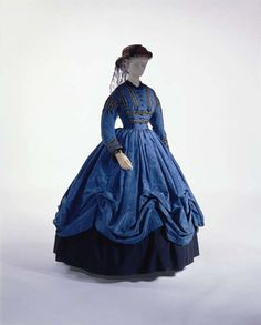 Dress: ca. 1864, French (probably), silk and embellishments.