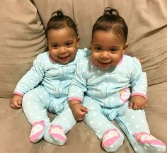 Gorgeous identical twin baby girls #multiples #twins