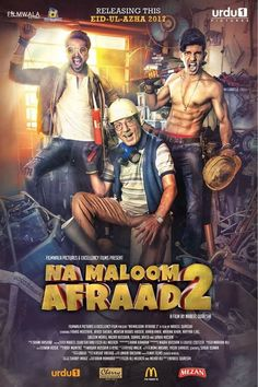 """Na Maloom Afraad 2 2017 Full HD Print. This is a sequel to 2014 comedy """"Na Maloom Afrad"""" (""""Unknown men""""). Movies To Watch Online, Movies To Watch Free, Pakistani Movies, Movie Club, Collection 2017, Full Movies Download, Movie Downloads, Hindi Movies, Latest Movies"""
