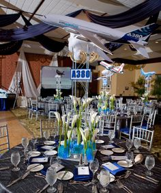 #Airplane theme #BarMitzvah We have plenty of space to host an event like this at 3 West Club in midtown #Manhattan. www.3westclub.com