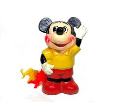 Vintage Mickey Mouse Bank Figurine 1970s Made in by CoconutRoad, $14.00