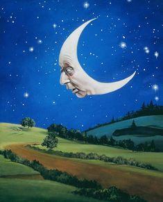 Man in the Moon ~ Carol Heyer Illustrator