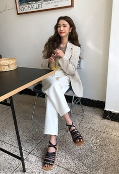 asian fashion fashion and stylenanda image Korean Fashion Office, Korean Street Fashion, Asian Fashion, Classy Outfits, Chic Outfits, Fashion Outfits, Fashion Trends, Trendy Outfits, Office Outfits Women
