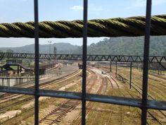 Relógio e os trens de Paranapiacaba - SP