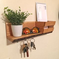 Live Edge Cherry Key Hook Shelf I Made for a Friend