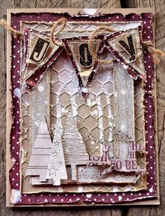 Card by Belinda Spencer using Darkroom Door Alphabet Medley and Stitched Christmas Rubber Stamp Sets and Wooden Frame Stamp.