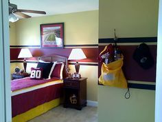 What a great room for a little Redskins fan.