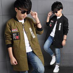 Boys Clothes Autumn Boys Windbreak Trench coat Kids Jackets for Boys Teenager Boys Coat Jackets Outerwear Coat Children Clothes #Affiliate
